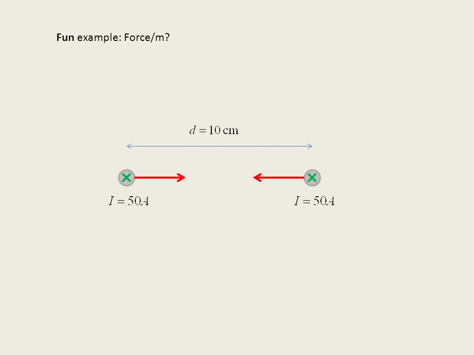 Fun example: Force/m