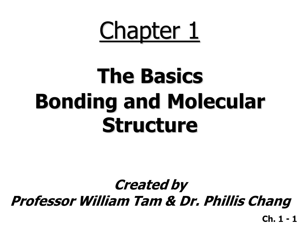 Ch.1 - 32  Ions, themselves, may contain covalent bonds.