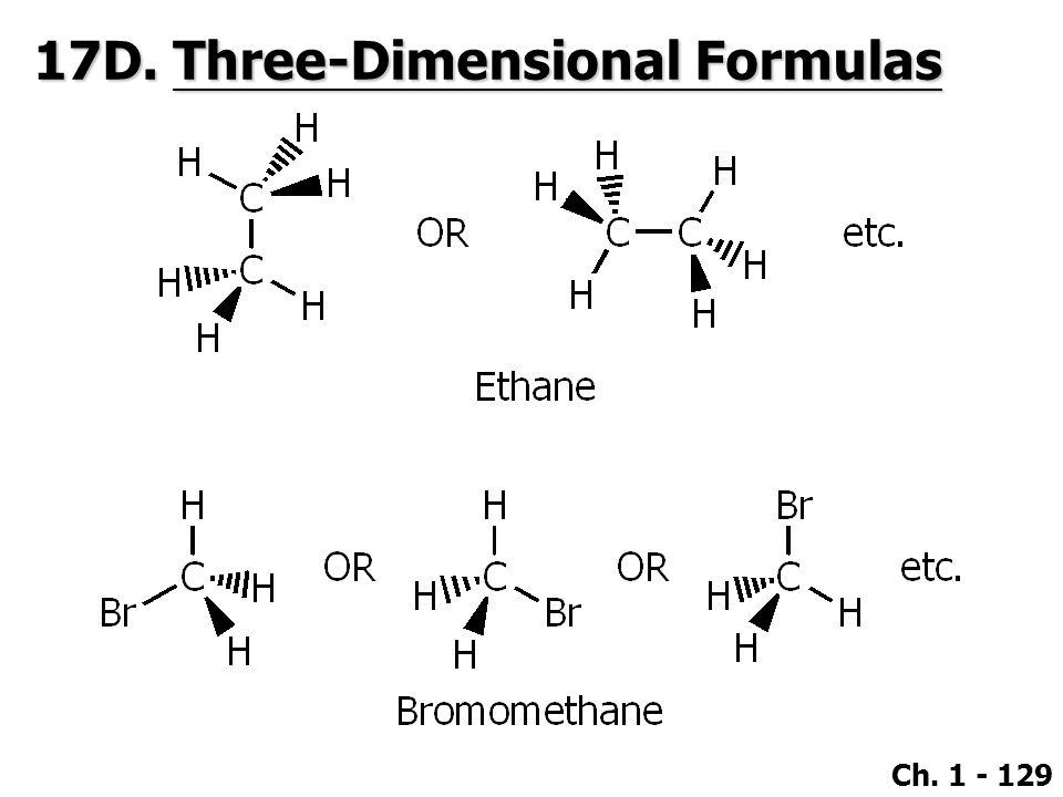 Ch. 1 - 129 17D. Three-Dimensional Formulas