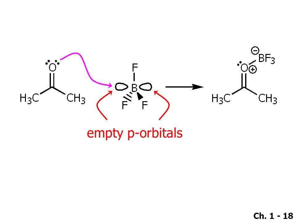 Ch. 1 - 18 empty p-orbitals