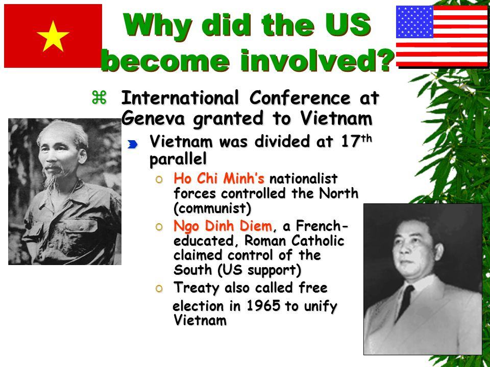 Why did the US become involved? zThe French lost control to Ho Chi Minh's Viet Minh (League for the Independence of Vietnam) forces in 1954 at Dien Bi