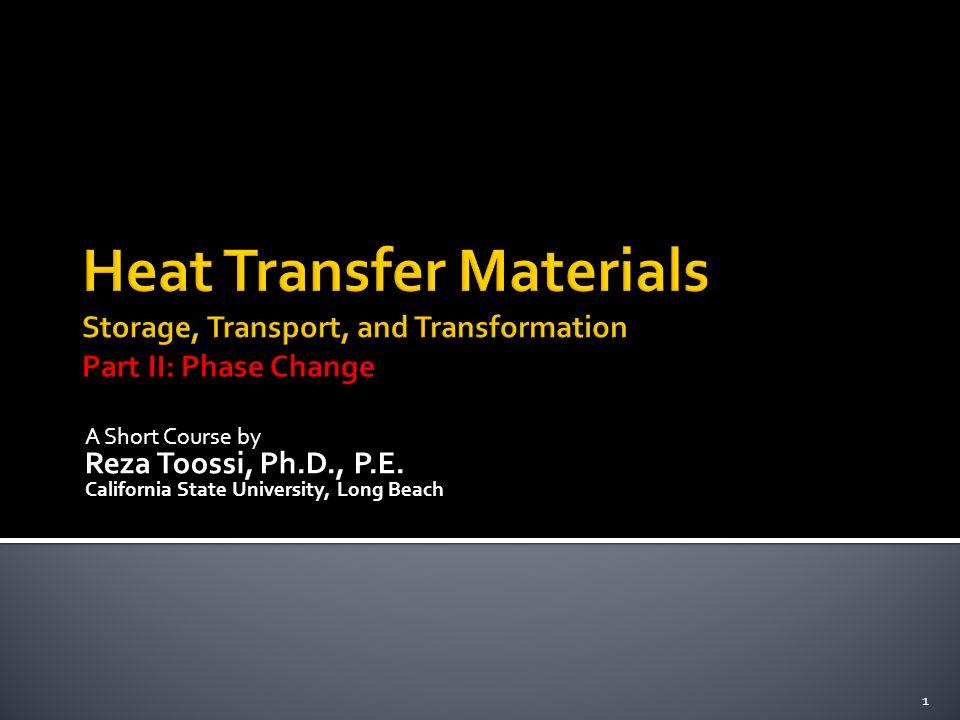 A Short Course by Reza Toossi, Ph.D., P.E. California State University, Long Beach 1