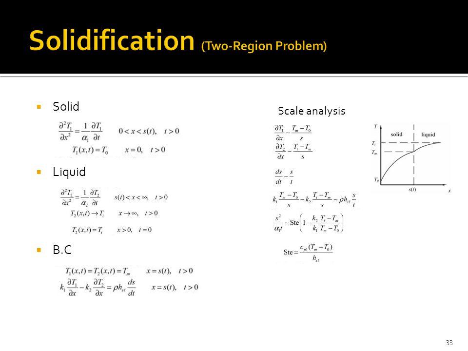  Solid  Liquid  B.C 33 Scale analysis