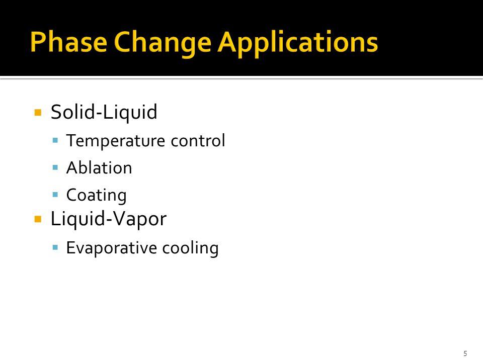  Solid-Liquid  Temperature control  Ablation  Coating  Liquid-Vapor  Evaporative cooling 5