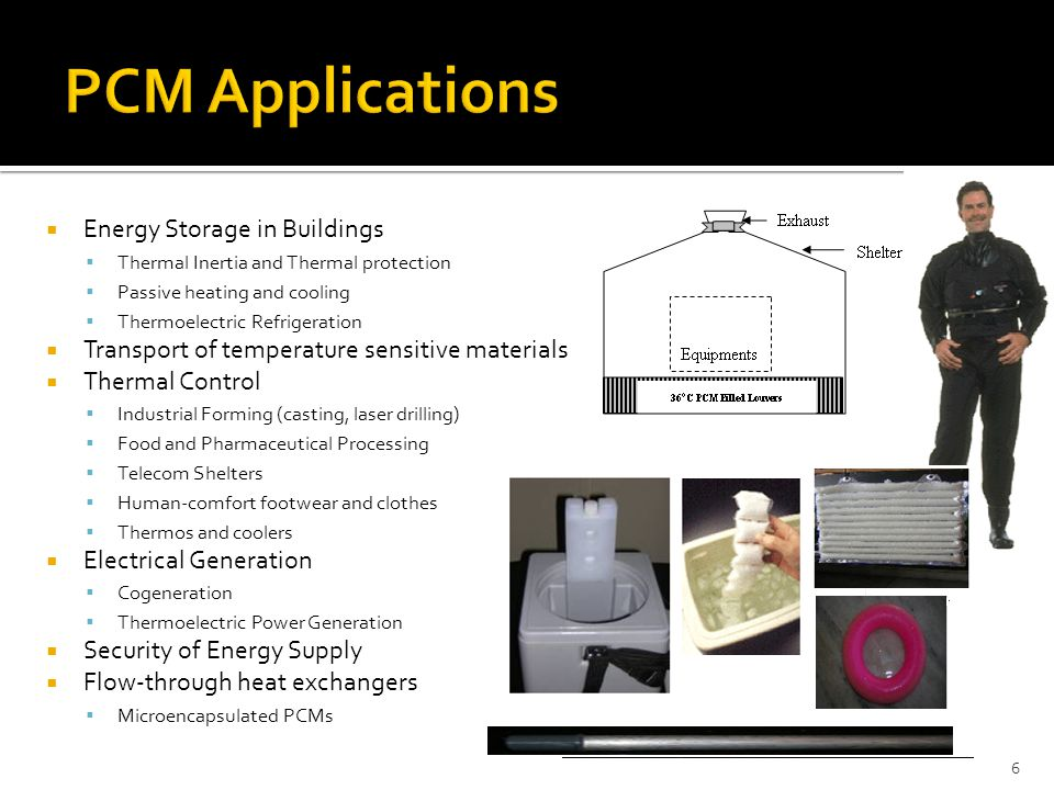  Energy Storage in Buildings  Thermal Inertia and Thermal protection  Passive heating and cooling  Thermoelectric Refrigeration  Transport of tem