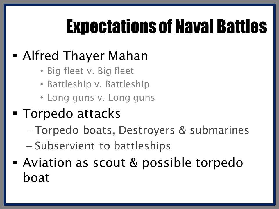 Expectations of Naval Battles  Alfred Thayer Mahan Big fleet v.