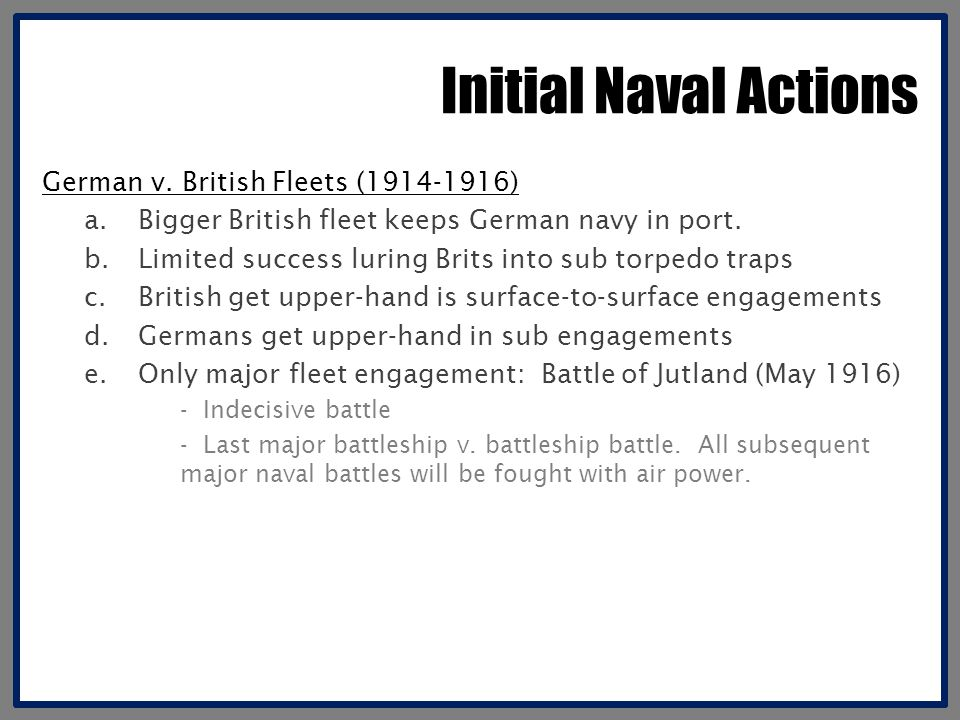 Initial Naval Actions German v.