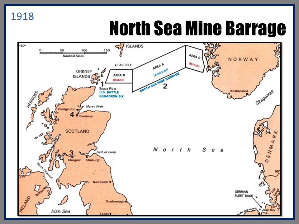 North Sea Mine Barrage 1918