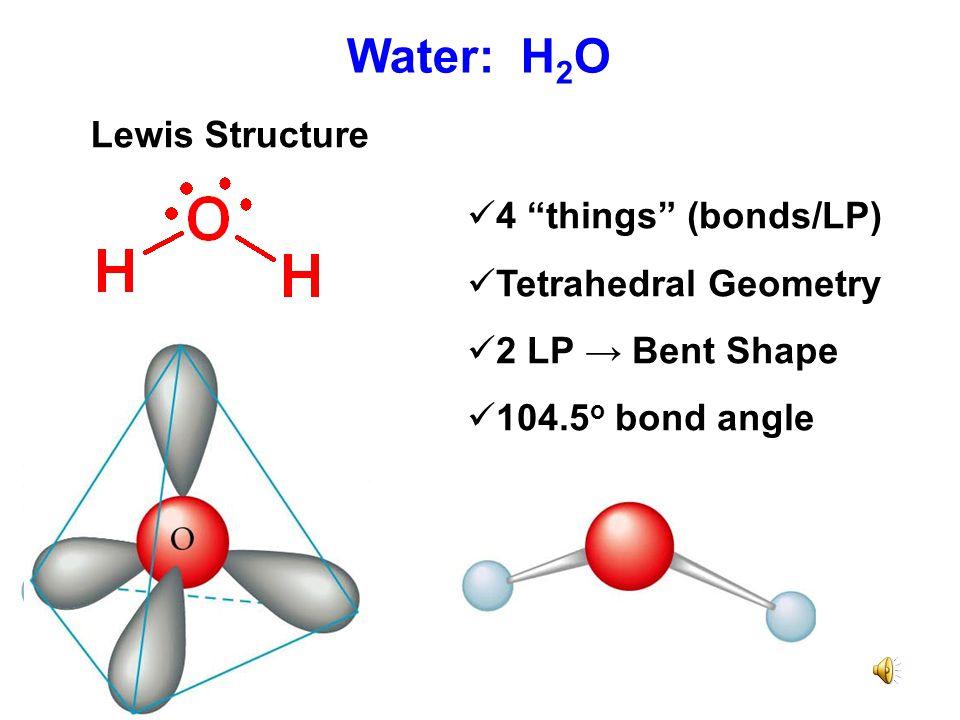 "Ammonia: NH 3 Lewis Structure Four ""things"" (bonds/LP) Tetrahedral geometry 1 LP → Trigonal pyramid shape 107 o bond angles"