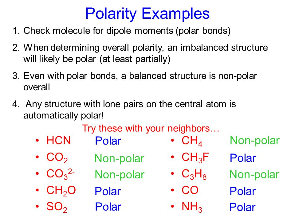 """Dipole Moments and Polarity Arrow points toward partially """"-"""" end Occurs in polar covalent bonds Uneven distribution of e - Atoms become partially cha"""