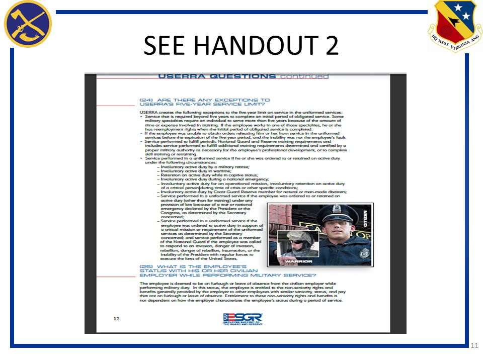 SEE HANDOUT 2 11