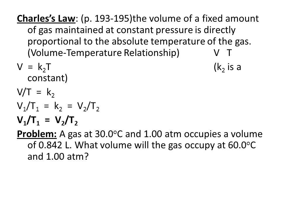 Gay-Lussac's Law: (p.
