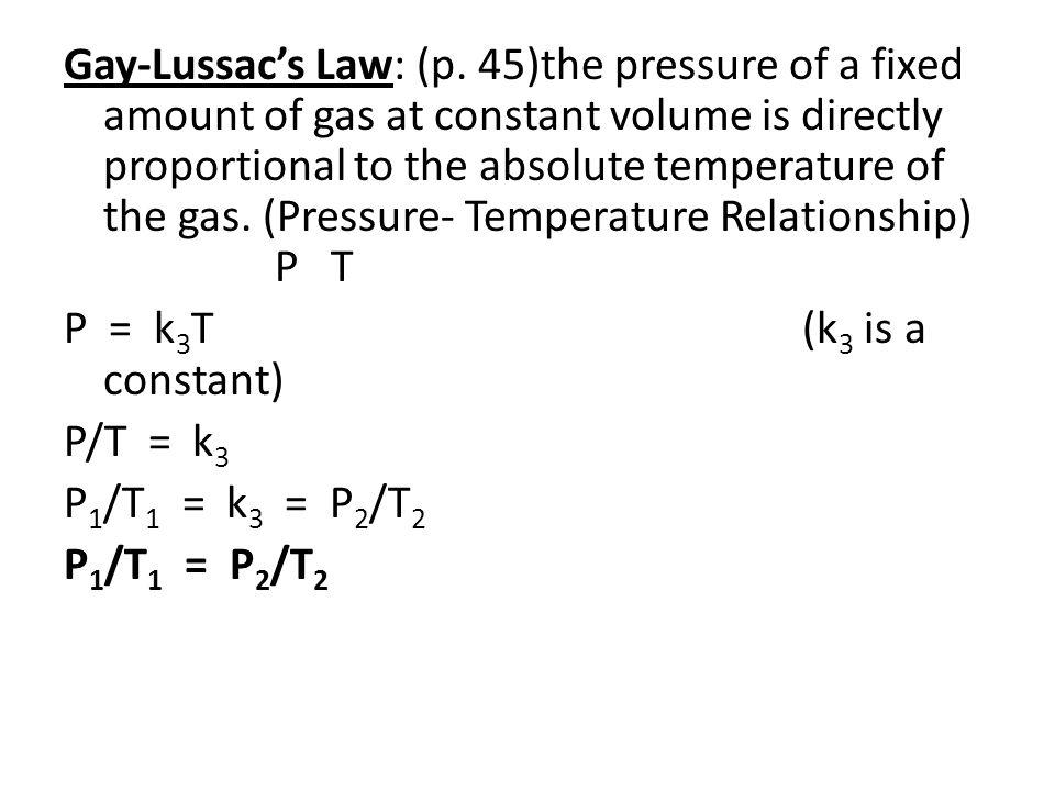 Avogadro's Law: (p.