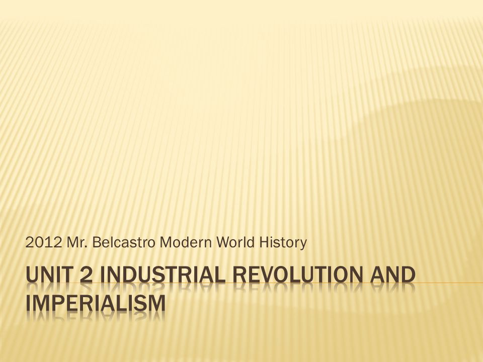 2012 Mr. Belcastro Modern World History