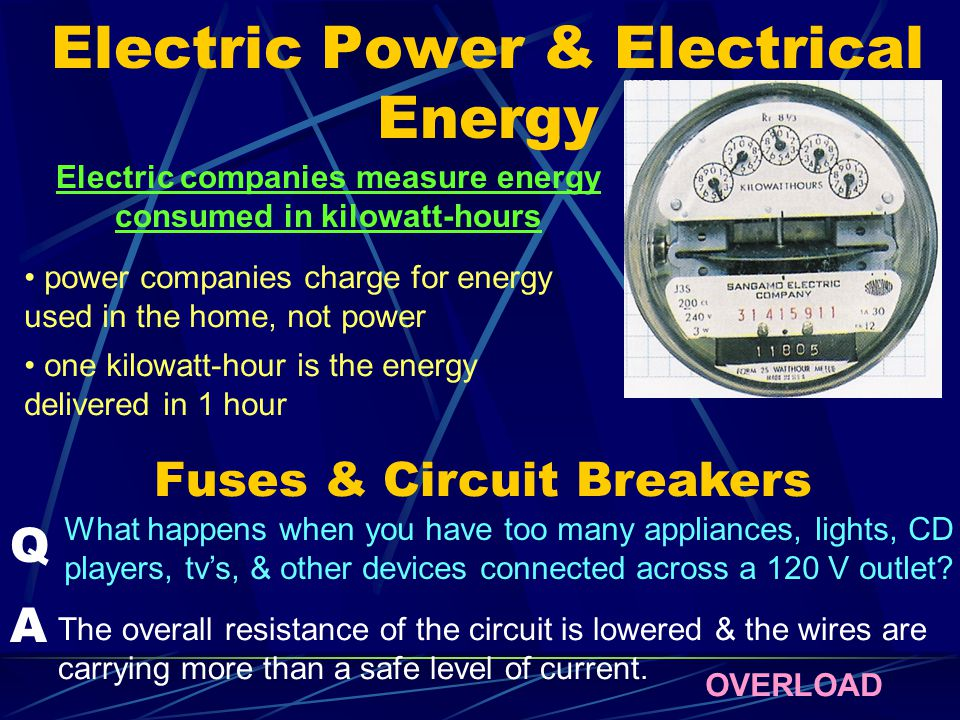 Electric Power & Electrical Energy
