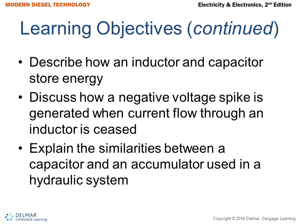 Copyright © 2014 Delmar, Cengage Learning Electric Power Work is force that results in movement in the direction the force is applied The amount of force exerted times distance traveled (lb-ft) yields the amount of work performed Power is the rate at which work is performed, in other words the amount of work over a period of time Electrical power is measured in watts