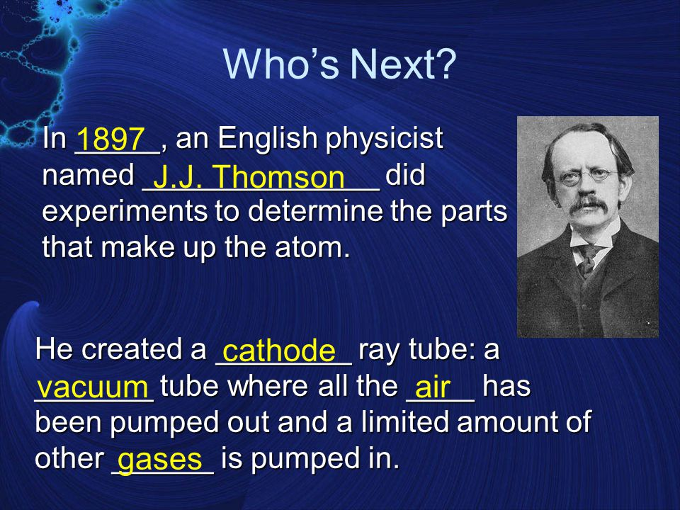 The Father of Atomic Theory Modern atomic theory was developed in 1809 by an English scientist named _____ ________. His theories were based on ______