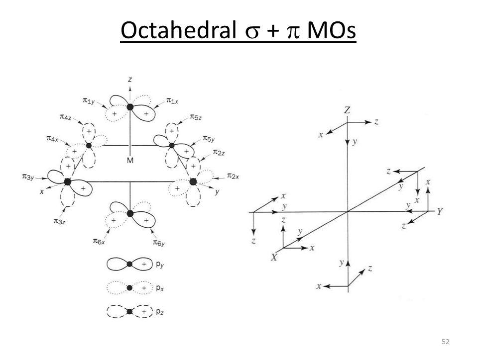 Octahedral  +  MOs 52