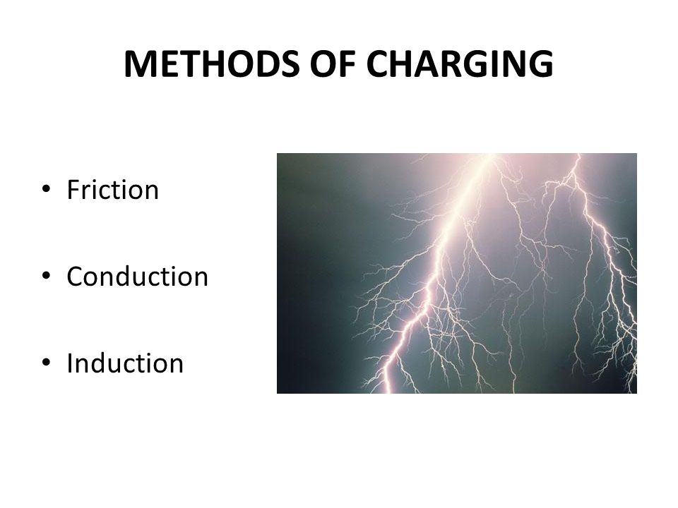 METHODS OF CHARGING Friction Conduction Induction