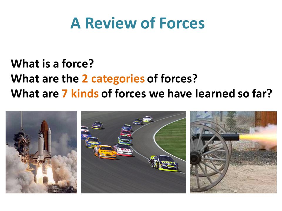 What type(s) of force is shown here? Contact force: applied force