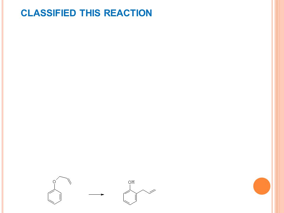 CLASSIFIED THIS REACTION