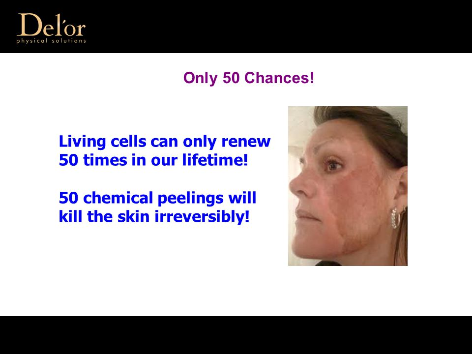 Living cells can only renew 50 times in our lifetime.