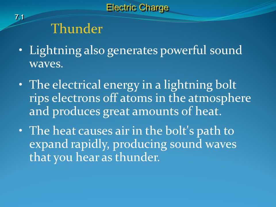 Thunder 7.1 Electric Charge Lightning also generates powerful sound waves.