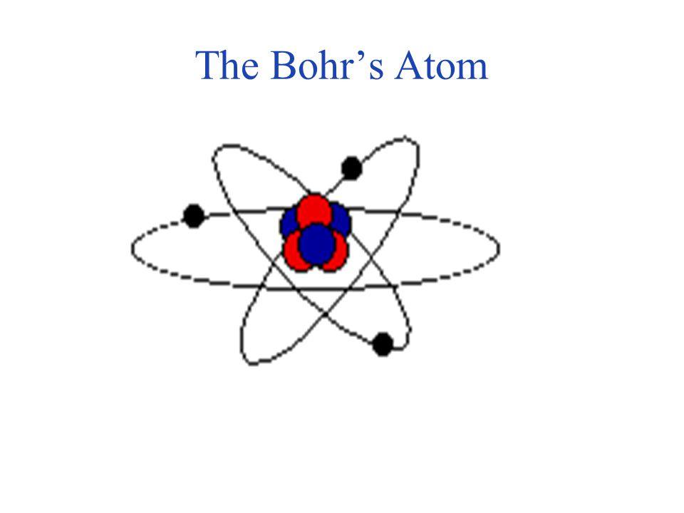 . The Bohr's Atom