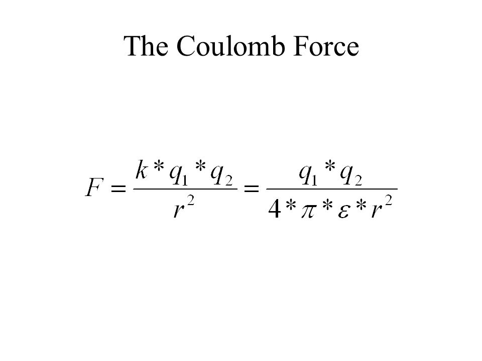 The Coulomb Force