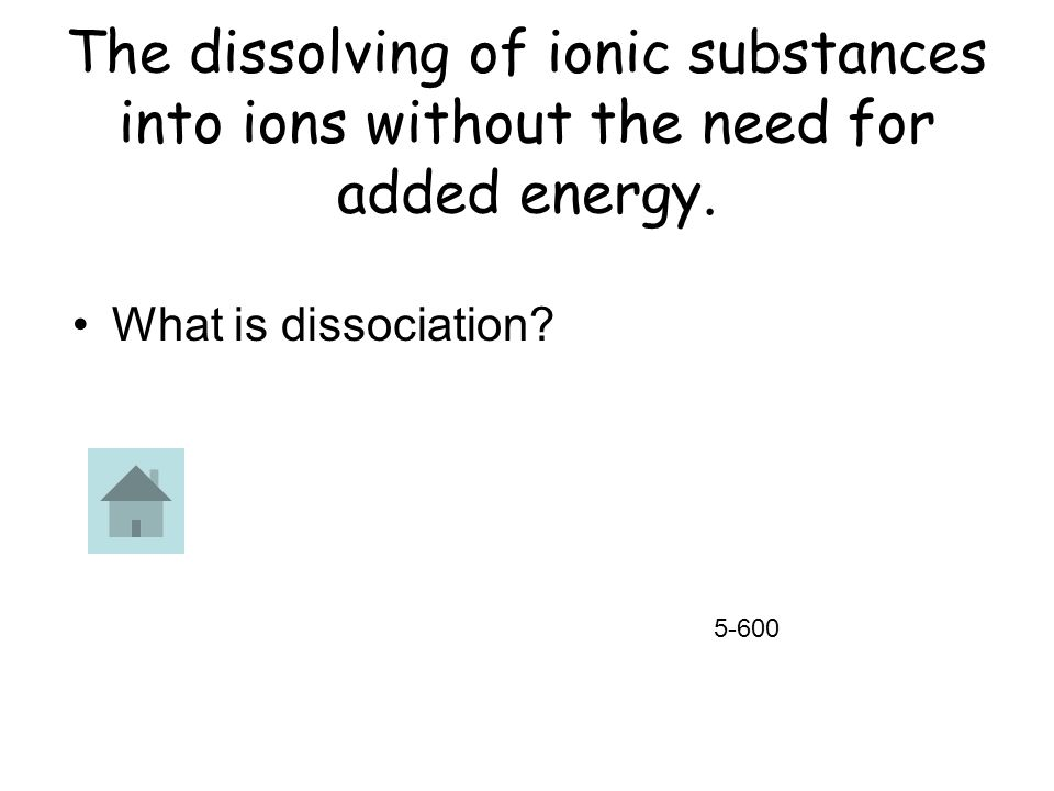 The dissolving of ionic substances into ions without the need for added energy.