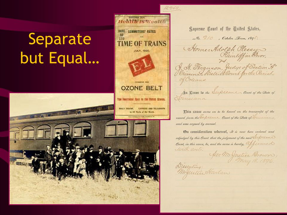 Separate but Equal…
