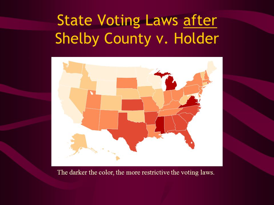 State Voting Laws after Shelby County v.