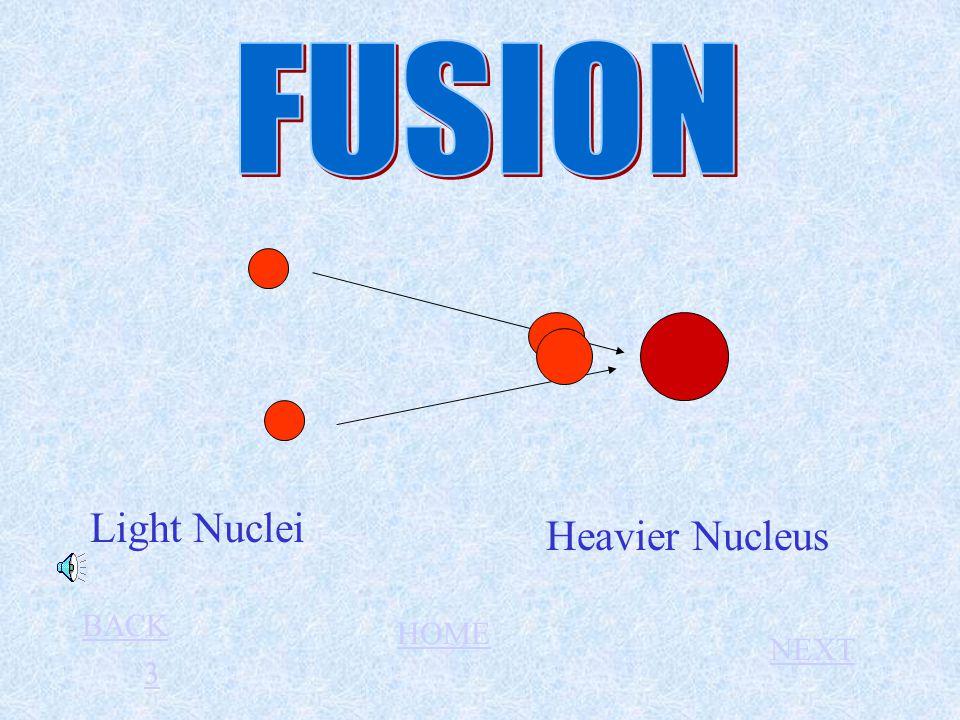 Light Nuclei Heavier Nucleus 33 BACK HOME NEXT