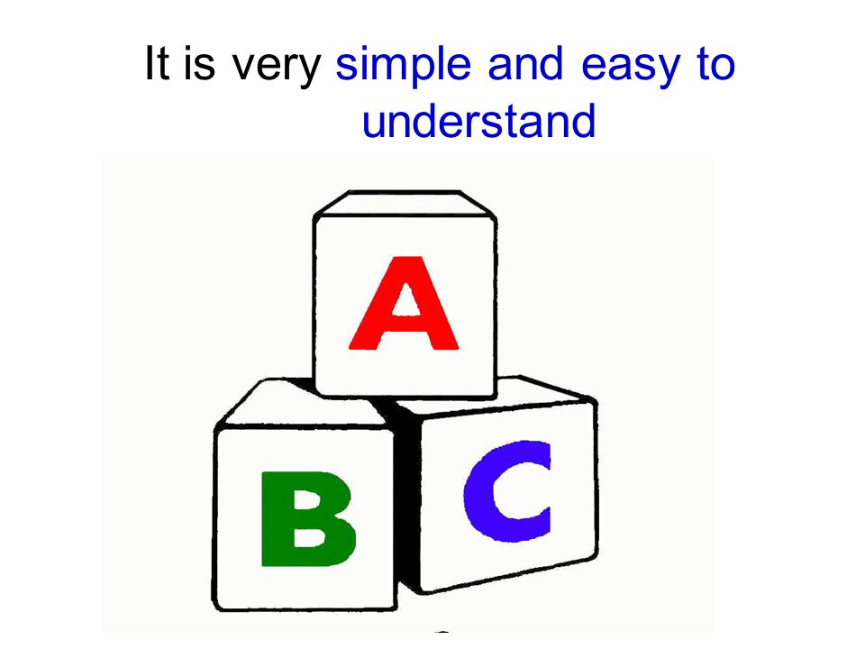 It is very simple and easy to understand