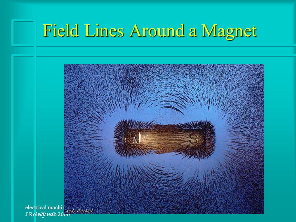 electrical machine1 J Role@ueab 2006 Magnetic Field Lines Magnetic field lines describe the structure of magnetic fields in three dimensions.They are