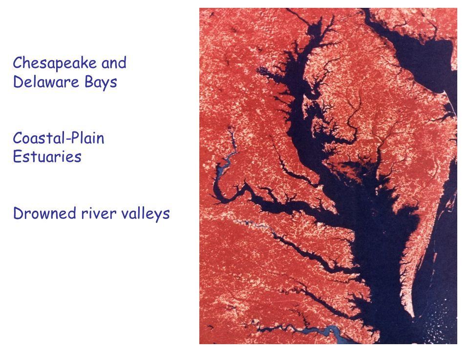 Chesapeake and Delaware Bays Coastal-Plain Estuaries Drowned river valleys