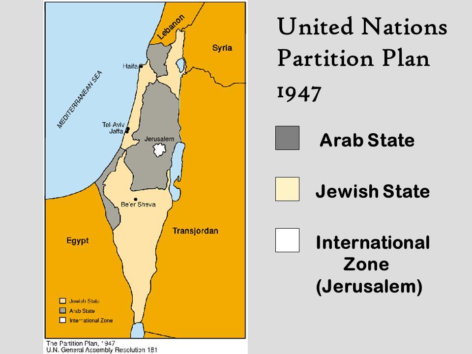 Post War Armistice Lines 1949 - 1967 Arab State (Jordan) Jewish State Jerusalem Gaza Strip (Egyptian)