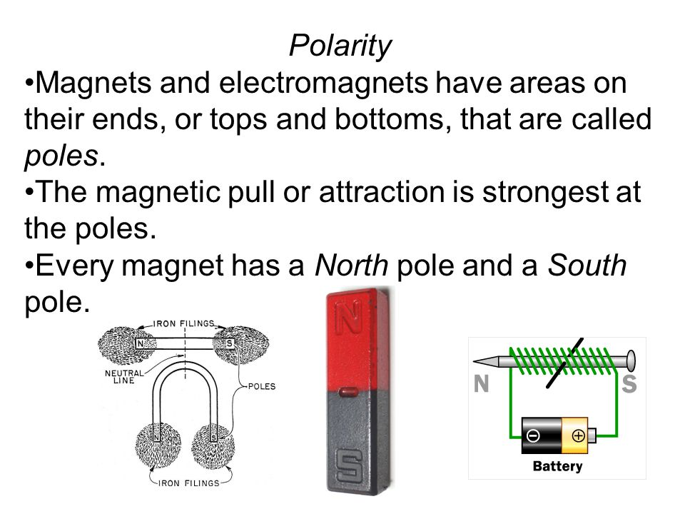 Polarity The poles of magnets affect each other in the following ways: Like poles repel each other.