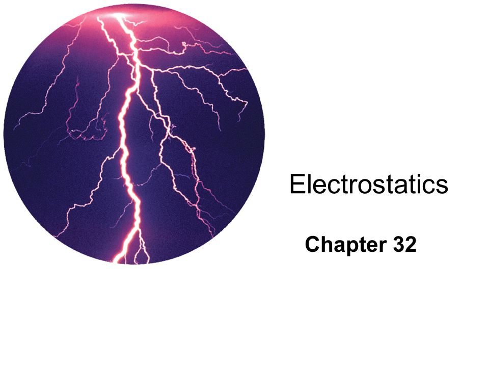 Electrostatics Chapter 32