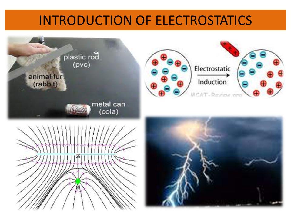 INTRODUCTION OF ELECTROSTATICS