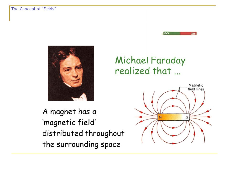 S N Magnetic field lines don't start or stop.