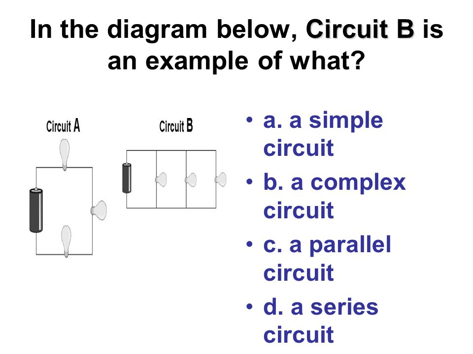 Circuit B In the diagram below, Circuit B is an example of what.