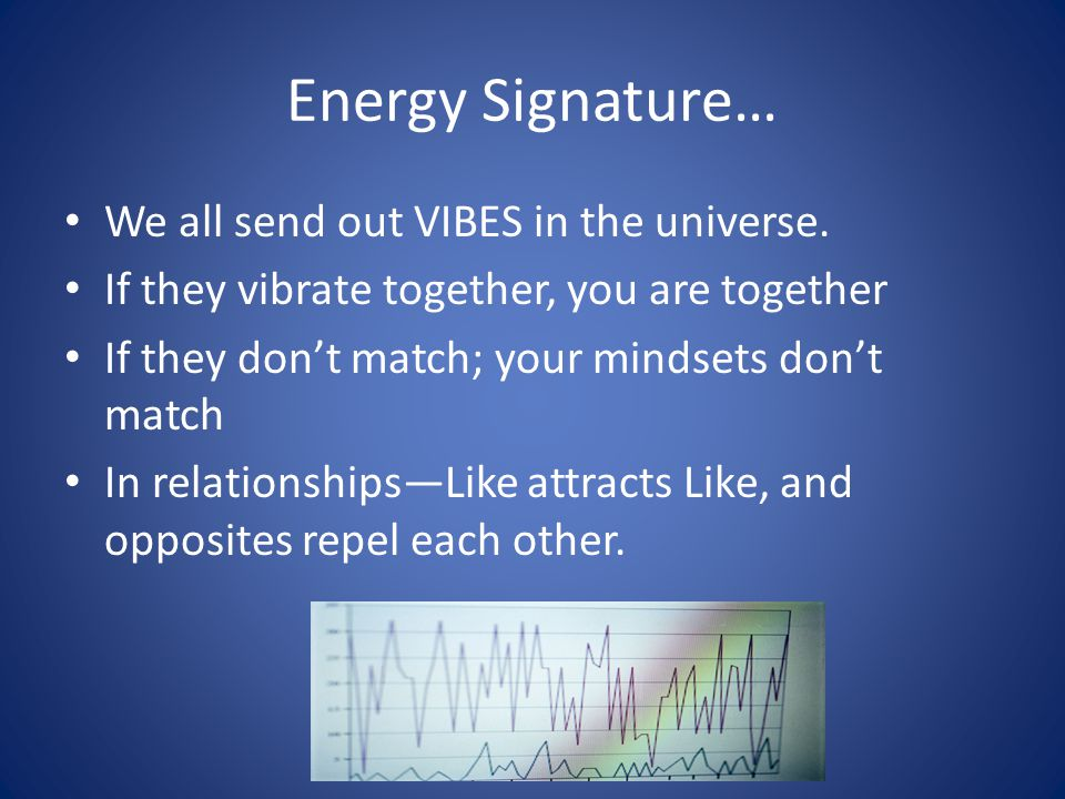 Energy Signature… We all send out VIBES in the universe.