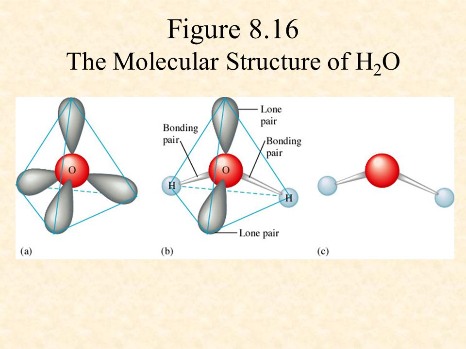 Figure 8.16 The Molecular Structure of H 2 O