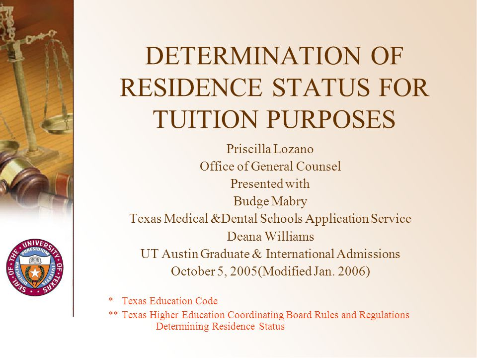 2 Developments in the Law SB 1528, 79 th Legislative Session –Fall, 2006 – new law applies (SB 1528, Section 12(b) –January 1, 2006 - THECB required to adopt rules Texas Higher Education Coordinating Board Rules and Regulations –October, 2005 - posted for comment –October 27, 2005 – proposed for CB adoption