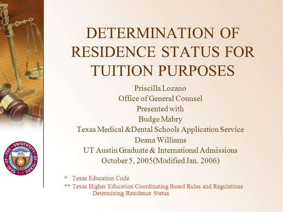 12 Domicile Presumed to be Established in Texas §21.