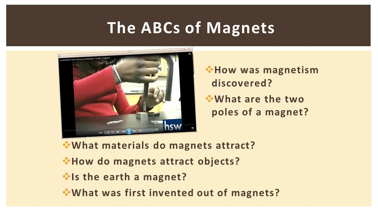 The ABCs of Magnets  How was magnetism discovered.