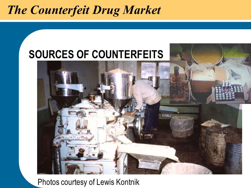 43 The Counterfeit Drug Market SOURCES OF COUNTERFEITS Photos courtesy of Lewis Kontnik