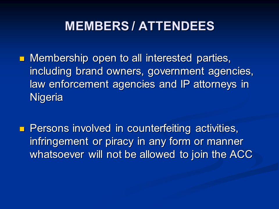 ACC MEMBERS Aluko & Oyebode Aluko & Oyebode Benchmac & Ince Benchmac & Ince Coca-Cola Nigeria Ltd Coca-Cola Nigeria Ltd Drum-Cussac Nig.