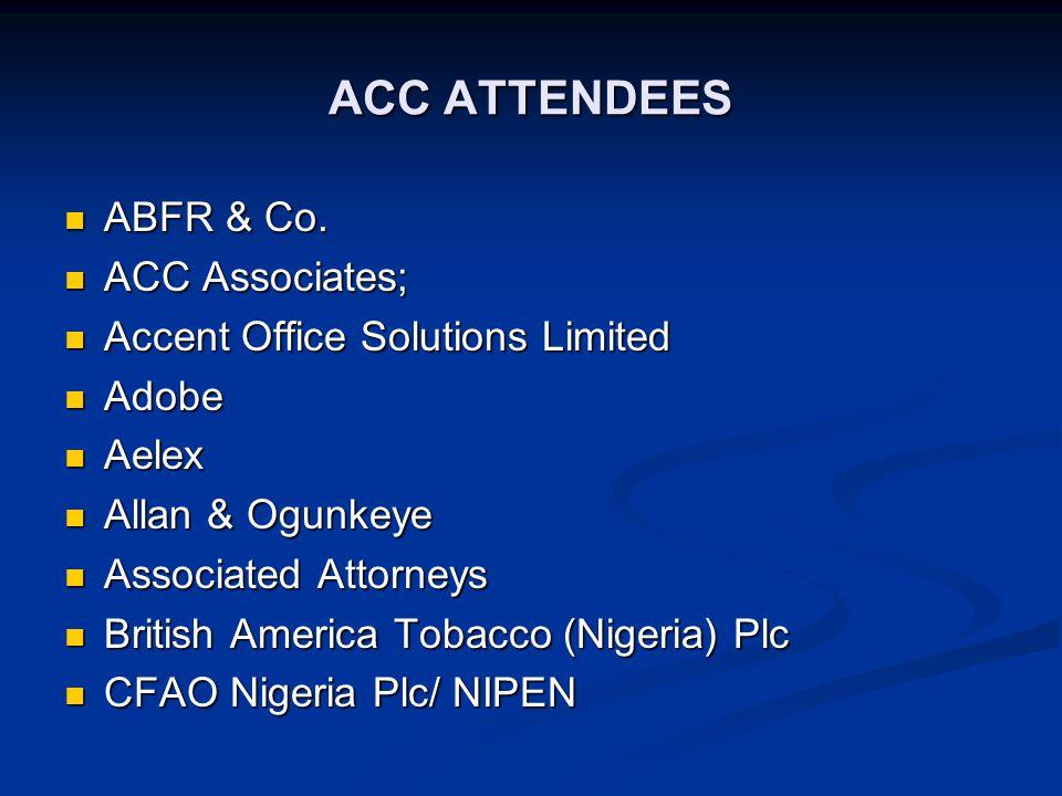 ACC ATTENDEES cont.Far-East Mercantile Far-East Mercantile Frankcom Ltd.